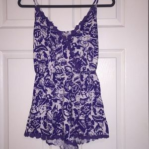 Other - Purple floral romper